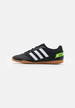 adidas Performance - SUPER SALA - Indoor football boots - core black/footwear white/solar green
