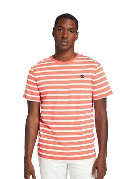 Timberland - ZEALAND RIVER STRIPE - T-Shirt print - cayenne yd