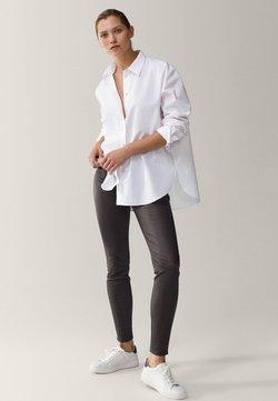 Massimo Dutti - Pantalon en cuir - khaki