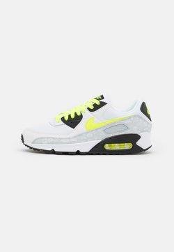 Nike Sportswear - AIR MAX 90 - Matalavartiset tennarit - white/volt/black/pure platinum