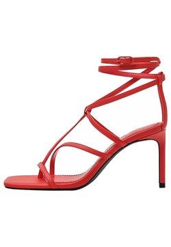 Bershka - Sandaletter - red