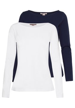 Anna Field - 2 PACK - Maglietta a manica lunga - maritime blue/white