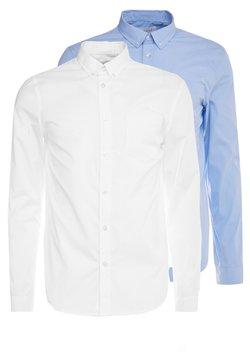 Pier One - 2 PACK - Businesshemd - white/light blue