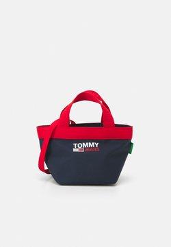 Tommy Jeans - CAMPUS MINI TOTE - Torebka - blue