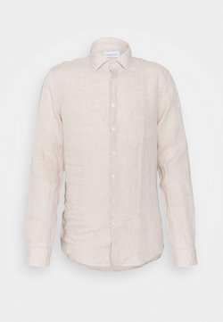 Calvin Klein Tailored - SOLID SLIM SHIRT - Businesshemd - bleached stone