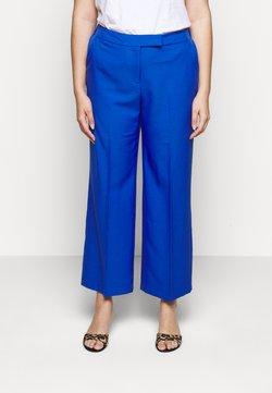 CAPSULE by Simply Be - ESSENTIAL WIDE LEG TROUSER - Pantalon classique - blue