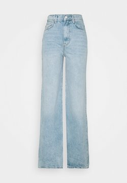 Free People - ASTORIA WIDE LEG - Straight leg jeans - seafoam