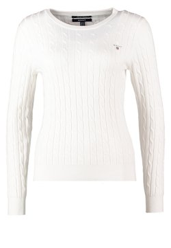 GANT - CABLE CREW - Sweter - off white