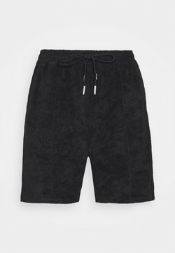 The Couture Club - TCC X ELLESSE MENS TOWELLED PIN TUCK RELAXED FIT  - Shorts - black