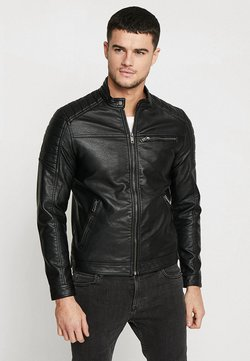 Jack & Jones - JJEROCKY JACKET - Kunstlederjacke - black