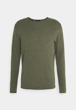 Selected Homme - SLHDOME CREW NECK - Maglione - agave green melange