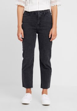 New Look Petite - STRAIGHT CROP HARLOW - Straight leg jeans - black