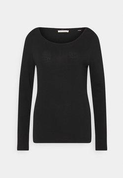 Marc O'Polo - LONG SLEEVE ROUND NECK - Langarmshirt - black