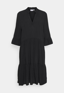 Saint Tropez - EDASZ SOLID DRESS - Vapaa-ajan mekko - black
