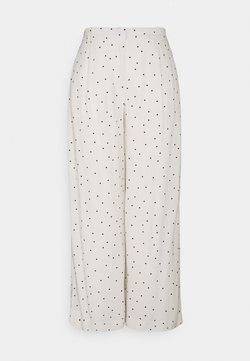 Selected Femme - SLFZELDA WIDE CROPPED PANT - Stoffhose - birch