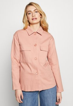 Missguided Tall - OVERSIZE POCKET DETAIL - Button-down blouse - pink
