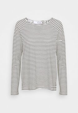 Selected Femme - SLFBELIVE TEE - Langarmshirt - black/snow white