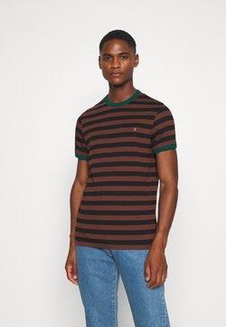 Farah - BELGROVE STRIPE TEE - T-shirt print - brown