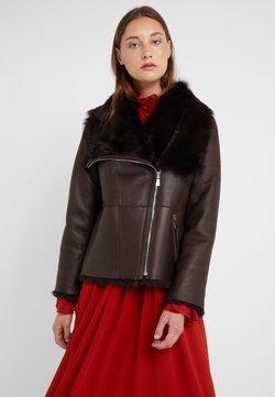 STUDIO ID - PHILIPPA JACKET - Leren jas - brown