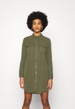 Vero Moda - VMSILLA SHORT DRESS  - Blusenkleid - ivy green