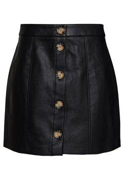 Vero Moda - VMIVA COATED SKIRT - A-line skirt - black