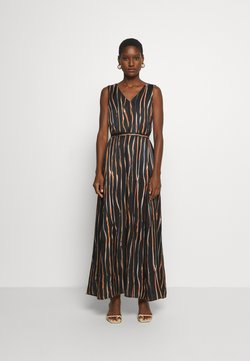 Marc O'Polo PURE - DRESS SLEEVELESS BELT - Długa sukienka - multi/black
