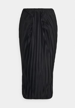Missguided Tall - RUCHED FRONT TIE SKIRT - Pleated skirt - black