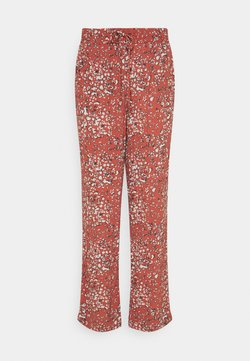 b.young - BYFLAMINIA LEO PANTS - Stoffhose - etruscan red mix
