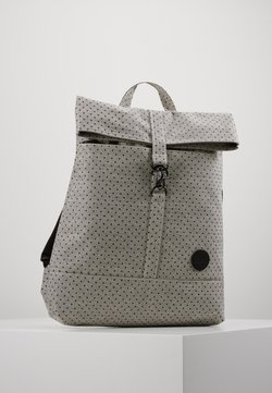 Enter - CITY FOLD TOP BACKPACK - Reppu - melange black/black polkadot