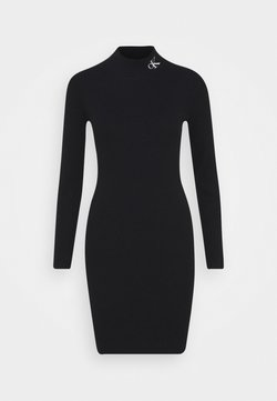 Calvin Klein Jeans - ROLL NECK DRESS - Vestido de punto - black