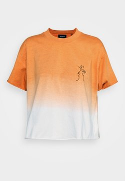 The Kooples - T-Shirt print - orange/ecru