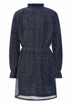 WE Fashion - MET GLITTERGAREN - Freizeitkleid - dark blue