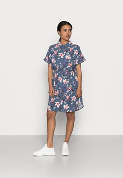 ONLY Petite - ONLNOVA LIFE SHIRT DRESS  - Blusenkleid - vintage indigo/butterfly floral