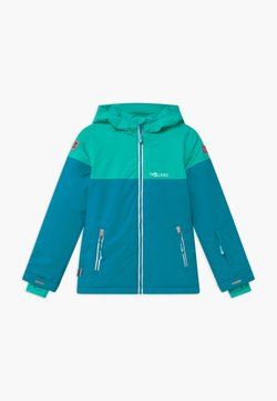TrollKids - GIRLS HALLINGDAL - Kurtka snowboardowa - light petrol/dark mint/white