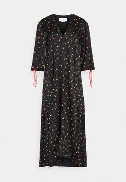 Victoria Victoria Beckham - PUFF SLEEVE DRESS - Freizeitkleid - black/multi