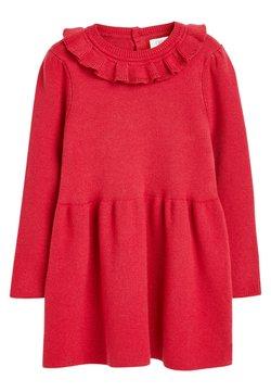 Next - FRILL NECK - Vestido de punto - red