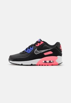 Nike Sportswear - AIR MAX 90 LTR  - Trainers - black/metallic silver/sunset pulse