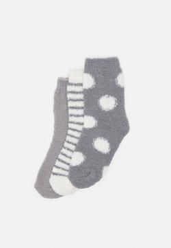 Anna Field - 3 PACK - Socken - grey/off-white