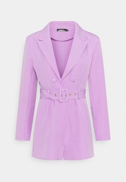 Missguided - BELTED TUX PLAYSUIT - Combinaison - lilac