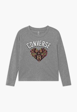 Converse - HEART TEE - Langarmshirt - mottled grey