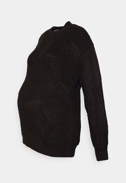 Pieces Maternity - PCMBENITA ONECK - Jersey de punto - black