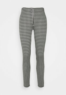 Dorothy Perkins - CHECK - Leggings - Hosen - black