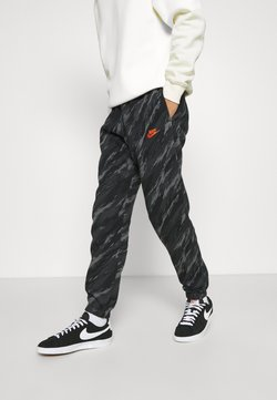 Nike Sportswear - PANT - Jogginghose - black/orange