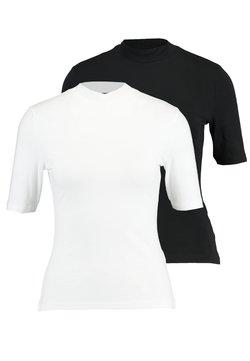 Even&Odd - 2 PACK - T-SHIRT BASIC - Basic T-shirt - white/black