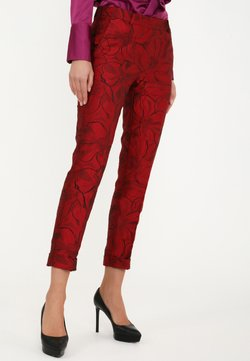Madam-T - MARIO - Stoffhose - schwarz, rot