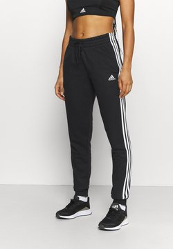 adidas Performance - ESSENTIALS FRENCH TERRY STRIPES PANTS - Jogginghose - black/white