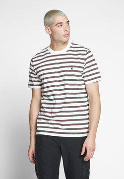 Carhartt WIP - OAKLAND  - T-Shirt print - oakland stripe, wax  treehouse