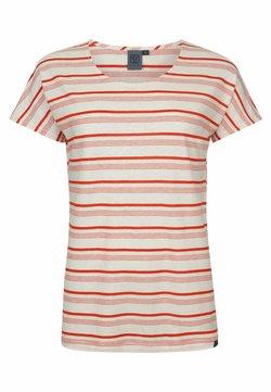 Elkline - CREAM - T-Shirt print - white red