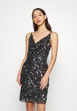 Lace & Beads - LEXI MINI - Shift dress - black irridescent