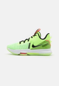 Nike Performance - LEBRON WITNESS V - Zapatillas de baloncesto - lime glow/black/bright mango/white